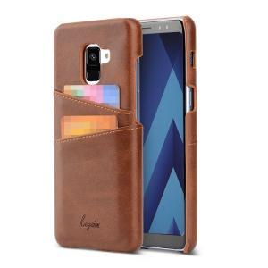Samsung Galaxy A8 ケース 2018モデルケース レザー シンプル スリム ハードカバー カード収納 ギャラクシー  a8-2018-27-l80313 it-donya