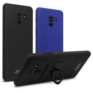 Galaxy A8 ハードケース 2018モデル プラスチック製 かっこいい 片手持ち スマホリング付き ギャラクシーA8 201  a8-2018-28-l80313 it-donya