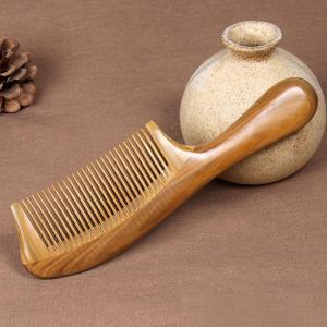 高級天然木緑壇を使用の櫛 一つ一つ職人が加工した木製の【くし】です 【へブラシ】【ブラシ】【髪】ヘアケア用品  comb-53-a-q70213|it-donya