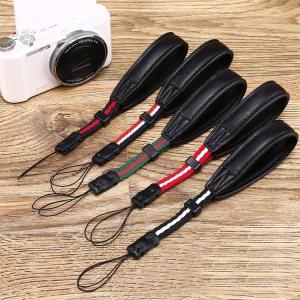 カメラ ストラップ PUレザー ボーダー ハンドストラップ  g-xj-d24-t61227|it-donya