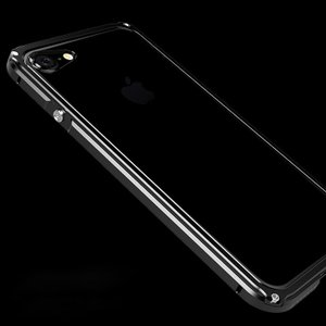 Apple iPhone8/iPhone7 アルミバンパー クリア バックパネル付き 2重構造 かっこいい メタルケース|it-donya