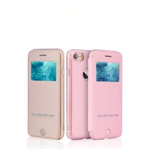 iPhone8 / iPhone7 ケース 手帳型 レザー 窓付き カバーの上から操作 アイフォン7 手帳型カバー|it-donya