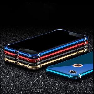 iPhone8 / iPhone7 アルミバンパー ケース バックプレート付き かっこいい  アイフォン7 メタルケーススマートフォン/スマフォ/スマホバンパー|it-donya
