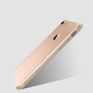 iPhone8 / iPhone7 ケース バンパー 耐衝撃 TPU メタル調フレーム シンプル  かっこいい アイフォン7 バンパーカバー|it-donya