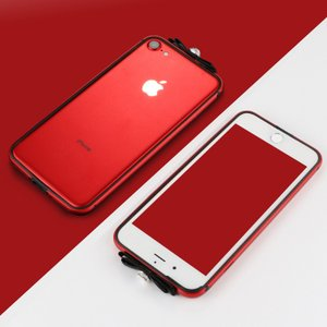 iPhone8 かわいい ケース アルミバンパー ラインストーン きらきら おしゃれ インナーシリコン アイフォン8 iPhone7 / iPhone8共通 メタルケース|it-donya