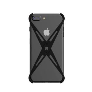 iPhone8 plus アルミフレーム 4コーナーガード クロスフレーム かっこいい メタルケース アイフォン7 プラス / アイフォン8 プラス 対応|it-donya