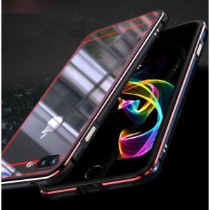 apple iPhone 8 Plus アルミバンパー ケース 背面カバー付き 際立つエッジ 金属アルミ かっこいい アイフォン8  ip8p-mjg06-w71005|it-donya