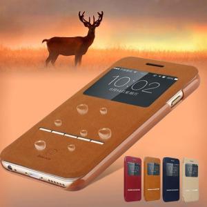 iPhone6 Plus 手帳 ケース レザー (5.5インチ) 窓付き カード収納/ウォレット/ アイフォン 6 P  iphone6p-j19-t40919|it-donya
