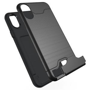 cd1a1e85ee iPhone XS / iPhone X ケース 耐衝撃 TPU 2重構造 カード収納 アイフォンXS/X 耐衝撃カバースマートフォン /スマフォ/スマホケース/カバー