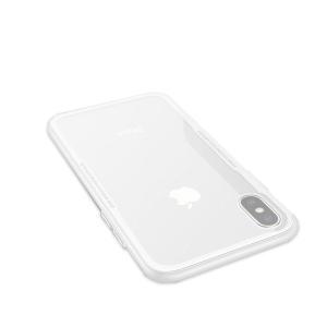 apple iphoneX ケース TPU バンパー 背面強化ガラス 背面パネル付き かっこいい アイフォンX サイドバンパー ア  ipx-ax03-w71027|it-donya