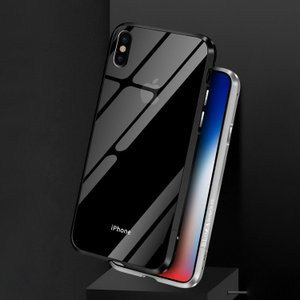 iPhone X バンパー アルミ メタル クリア バックパネル付き アイフォンX ハードケース かっこいい アイフォンX メタルサイドバンパー|it-donya