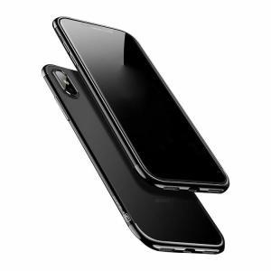 iPhone X ケース クリア TPU メッキ スリム 薄型 シンプル かっこいい アイフォンX 透明ケース it-donya