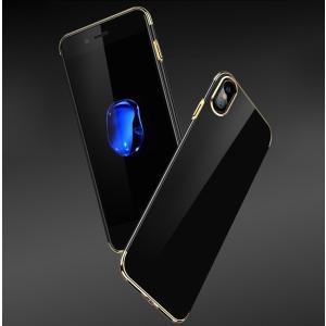 iPhone X ケース メッキ 耐衝撃 TPU シンプル スリム かっこいい アイフォンX カバー ソフトケース|it-donya