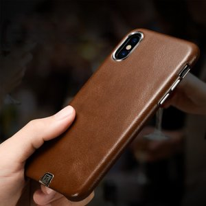 iPhone X ケース PU レザー シンプル ベーシック かっこいい レザー 背面カバー アイフォンX ケース it-donya