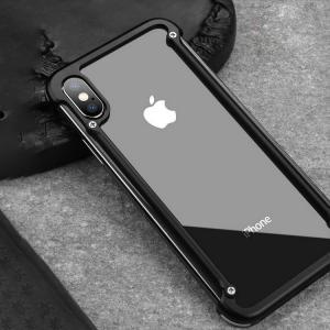 apple iphone X アルミフレーム 4コーナーガード フレーム かっこいい アイフォンX メタルケース スマホのアルミフ  ipx-pf04-w71222|it-donya