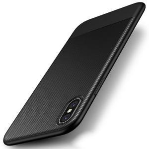 iPhone X ケース 耐衝撃 TPU カーボン調 かっこいい スリム アイフォンX カバー|it-donya