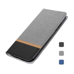ASUS ZenFone Max Pro(M2)ZB631KL/Max(M2)ZB633KL ケース 手帳型 キャンパス調 レザー スタンド機能 上質なPUレザー エイスース ゼンフォン 手帳タイプ カバー|it-donya