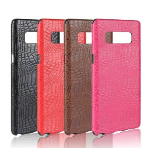 Galaxy Note8 ケース レザー クロコダイル調 ワニ革風 スリム 背面カバー シンプルでスリム ギャラクシーノート8 レザーケース|it-donya