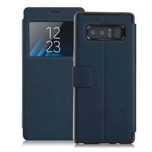 Samsung Galaxy Note8 ケース 手帳型 レザー 窓付き カバー 上質で高級PUレザー ギャラクシー ノート8 手  note8-lp05-w70901|it-donya