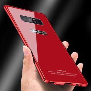 Galaxy Note8 ケース アルミ バンパー   強化ガラス 背面パネル付き ギャラクシーノート8 バンパー|it-donya