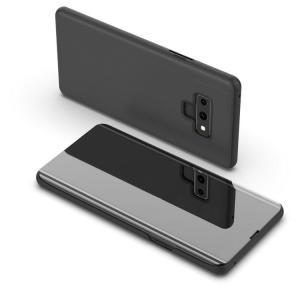 Galaxy Note9 ケース 2つ折り 液晶保護 パネル 半透明 サムスン ギャラクシーノート9 note9-sam03|it-donya