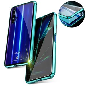 HUAWEI nova5t ケース/カバー アルミ バンパー クリア 透明 強化ガラス 背面パネル付...