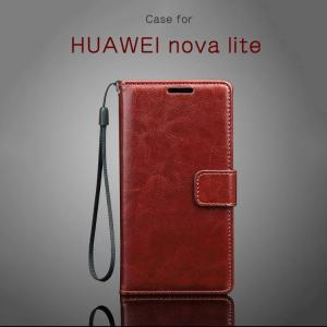 HUAWEI nova lite ケース 手帳型 レザー 衝撃吸収 カード収納 シンプル おしゃれ PUレザー ファーウェイ ノバ  novalite-le-w70321|it-donya