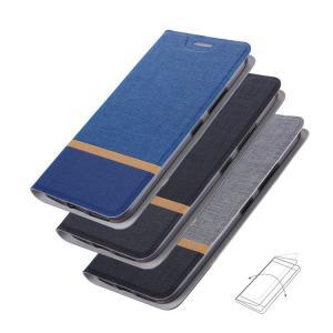 P10 lite ケース 手帳型 レザー キャンパス調 ツートンカラー カード収納 手帳タイプ huawei / ファーウェイ P10ライト|it-donya