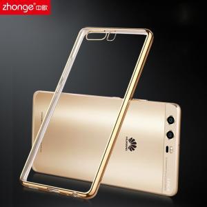 Huawei P10 Plus クリアケース TPU 耐衝撃 メッキ メタル調 シンプル かっこいい ファーウェイP10 Plus  p10plus-37-r-q70320|it-donya