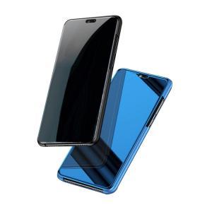 Huawei P20 ケース カバー 2つ折り 液晶保護 パネル 半透明 ファーウェイ P20 ケース おすすめ おしゃれ アンド  p20-sam02b-w80419|it-donya
