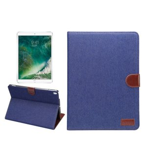 apple iPad pro 10.5 インチ ケース 手帳 レザー デニム風 スタンド機能 キャンパス調 カード収納 アイパッド  pro105-j53-t70617|it-donya