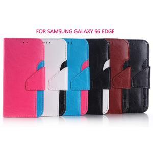 GALAXY S6 edge ケース 手帳 レザー ウォレット/財布型 上質でオシャレ ギャラクシーS6エッジ用 手帳型レザスマートフォン/スマフォ/スマホケース/カバー|it-donya