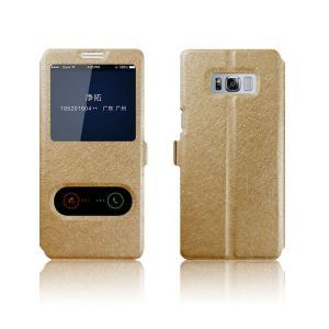 Galaxy S8 ケース 手帳型 レザー 窓付き シンプル おしゃれ スリム 薄型 シンプル ギャラクシーS8 手帳型カバー   SC-02J docomo SCV36 au|it-donya