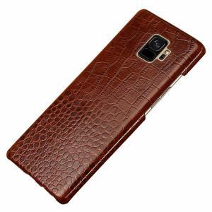 Samsung Galaxy S9 ケース/カバー レザー クロコダイル調 スリム ハードカバー ギャラクシーS9 / SC-02K / SCV38  galaxys9 レザーケース/カバー サムスン サム it-donya