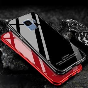 Samsung Galaxy S9 ケース/カバー アルミ バンパー クリア 透明 強化ガラス 背面パネル付き  かっこいい ギャラクシーS9 / SC-02K / SCV38  アルミサイドバンパ it-donya