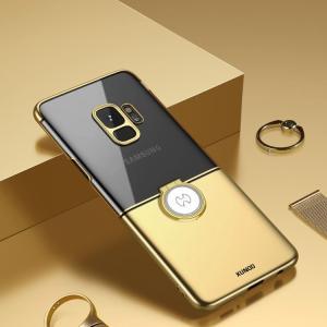 Galaxy S9 クリアケース シンプル メッキ 片手持ち リング付き かっこいい ギャラクシー S9 透/SC-02K / SCV38スマートフォン/スマフォ/スマホケース/カバー it-donya