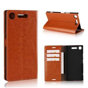 SONY Xperia XZ1 ケース 手帳型 レザー カバー カード収納 シンプル おしゃれ エクスぺリアXZ1 手帳型カバー   xz1-23-l71116|it-donya