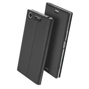 Xperia XZ1 Compact ケース 手帳型 レザー カバー スリム/薄型 シンプル おしゃれ エクスぺリアXZ1コンパク  xz1c-50-l70908|it-donya