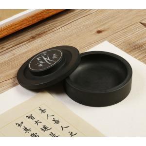 硯 円形 羅紋硯 4吋 硯石 羅紋硯 実用硯 練習 書道用品  yantai-n36-t70126|it-donya