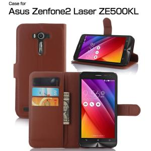 ZenFone 2 laser ZE500KL ケース 手帳 レザー カード収納/ウォレット/財布型 シンプル おしゃれ 上質 高  ze500kl-pe-w50908|it-donya