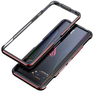 ASUS ROG Phone 2 ZS660KLアルミバンパー かっこいい アルマイト加工 耐衝撃 ...