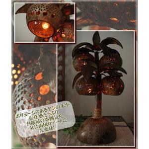 エスニック ランプ アジアン 照明 雑貨 インテリア ココナッツやしの木ランプ・4ボール|ital-village