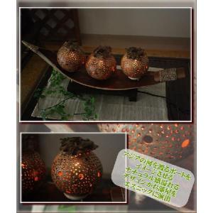 エスニック ランプ アジアン 照明 雑貨 インテリア ココナッツボートランプ|ital-village