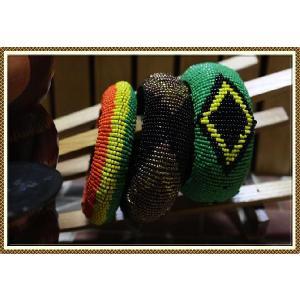エスニック アジアン バングル ブレスレット ファッション レディース エスニックビーズボリュームバングル|ital-village