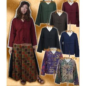 ブラウス シャツ レディース ファッション エスニック アジアン サラサラレーヨン編みこみリボンブラウス|ital-village