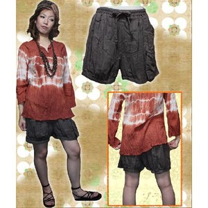 エスニック アジアン パンツ ファッション レディース ヘリンボーンバルーンショートパンツ|ital-village