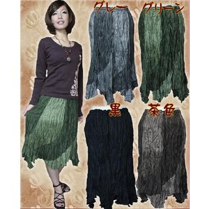 エスニック アジアン スカート ファッション レディース クシュクシュグラデアシメスカート|ital-village