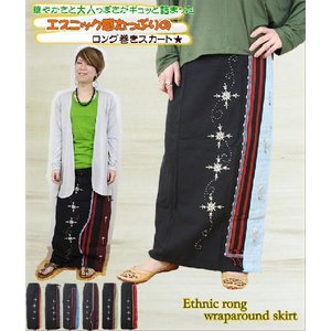 ロングスカート エスニック アジアン スカート ファッション レディース たっぷりエスニックロング巻きスカート|ital-village