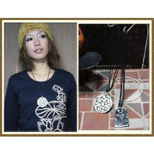 エスニック アジアン ネックレス ファッション レディース シェルプレートネックレス|ital-village