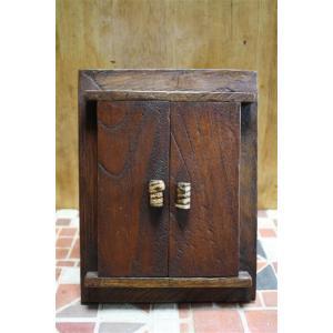 フォトフレーム 雑貨 インテリア 写真たて アジアン エスニック 木製写真立て 扉付|ital-village